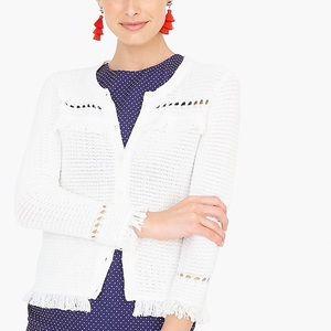 NWT J. Crew Cardigan Sweater With Fringe